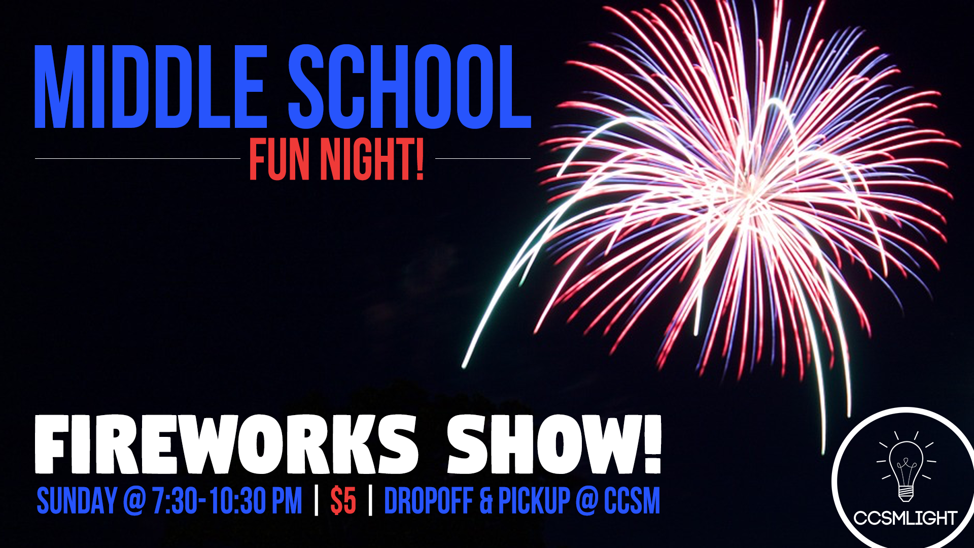 middle school fireworks calvary chapel stone mountain